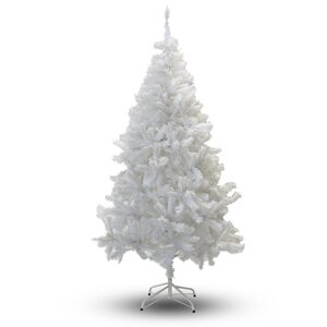 8' White PVC and Crystal Artificial Christmas Tree