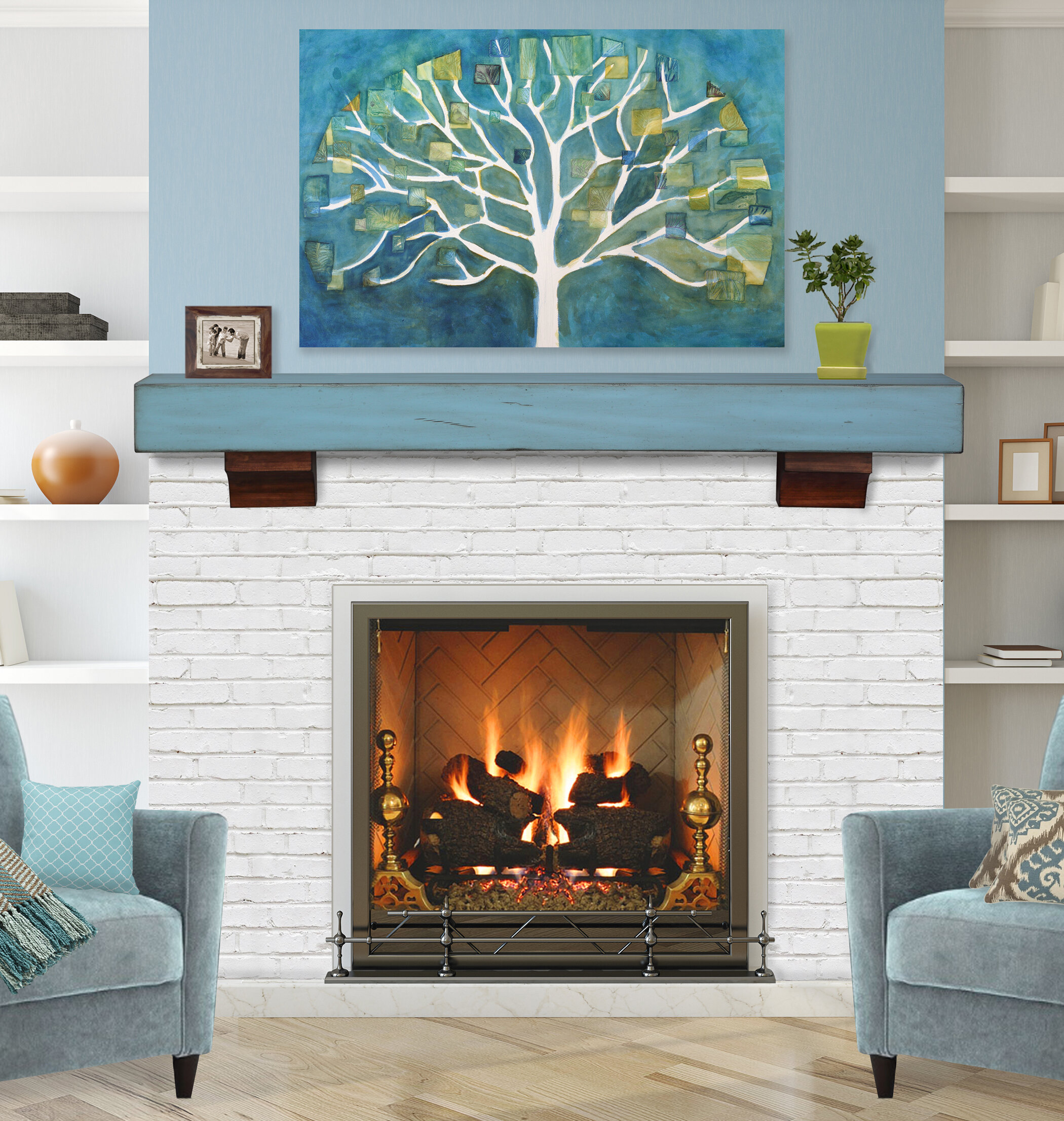 Pearl Mantels The Shenandoah Fireplace Shelf Mantel U0026 Reviews | Wayfair
