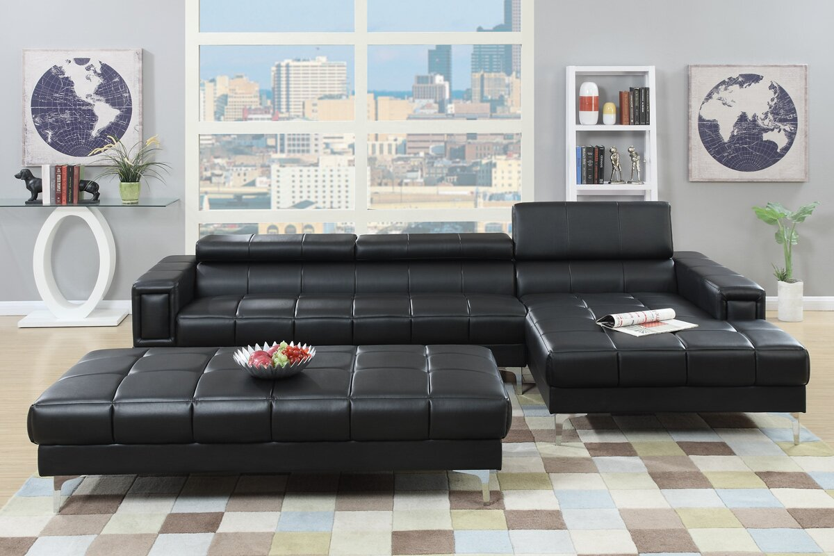 Bobkona Hayden Reclining Sectional : recliner sectionals - Sectionals, Sofas & Couches