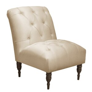 Arch Hill Shantung Tufted Slipper Chair