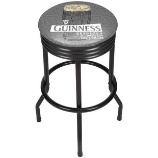 Guinness Line Art Pint Ribbed 29 Swivel Bar Stool