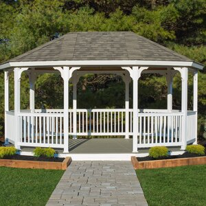 Oval 18 Ft. W x 12 Ft. D Vinyl Permanent Gazebo