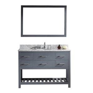 White Bathroom Drawers 48 inch bathroom vanities you'll love | wayfair