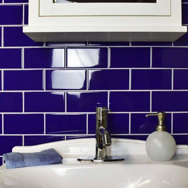 Elitetile Antiqua 3 Quot X 6 Quot Ceramic Subway Tile In Blue