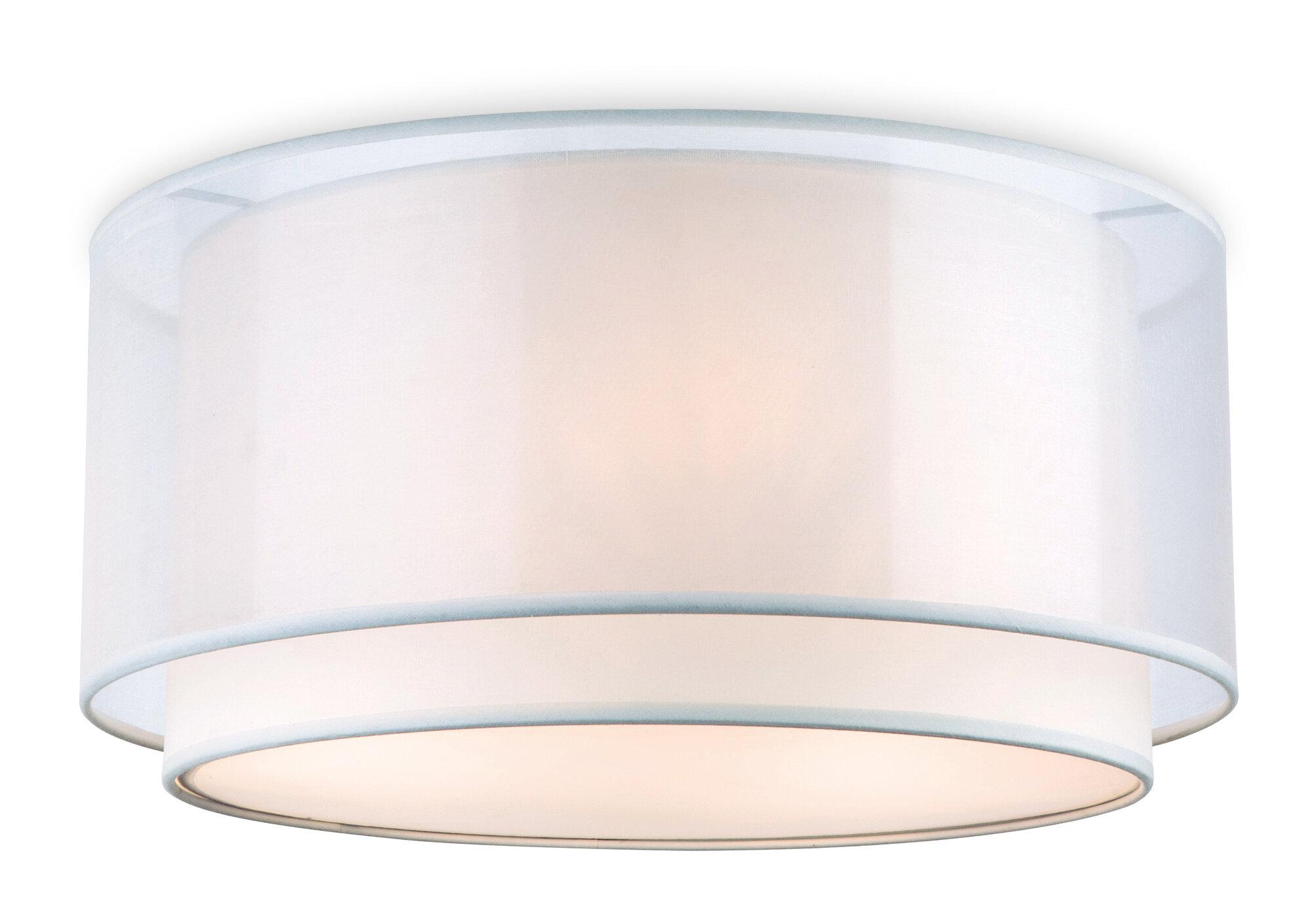 Firstlight Chicago 3 Light Flush Ceiling Light & Reviews   Wayfair.co.uk