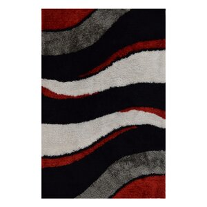 Hand-Tufted Black/Beige Area Rug