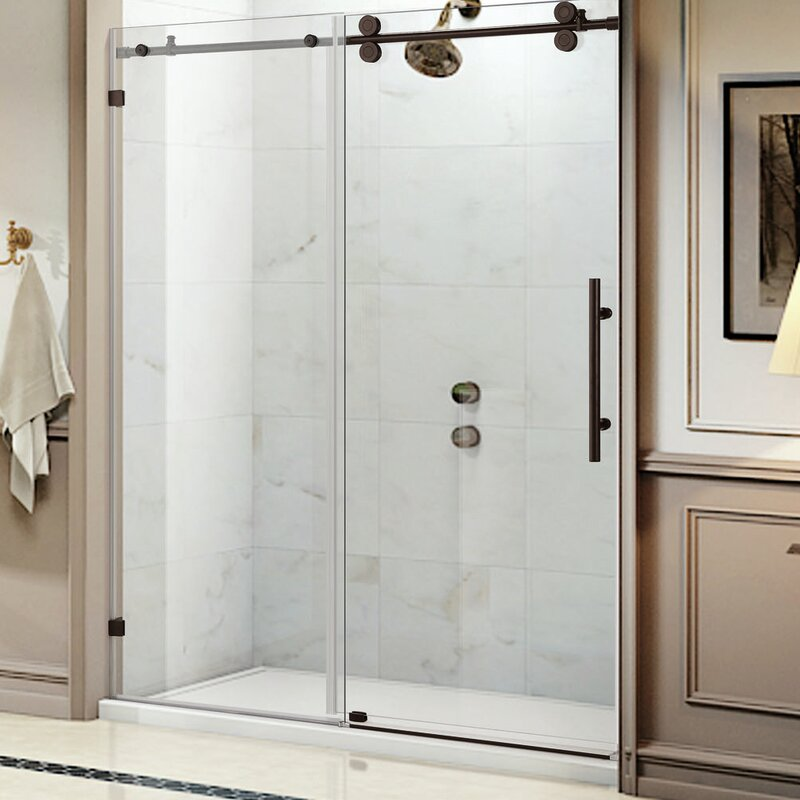 Equinox 60 X 62 Single Sliding Frameless Shower Door