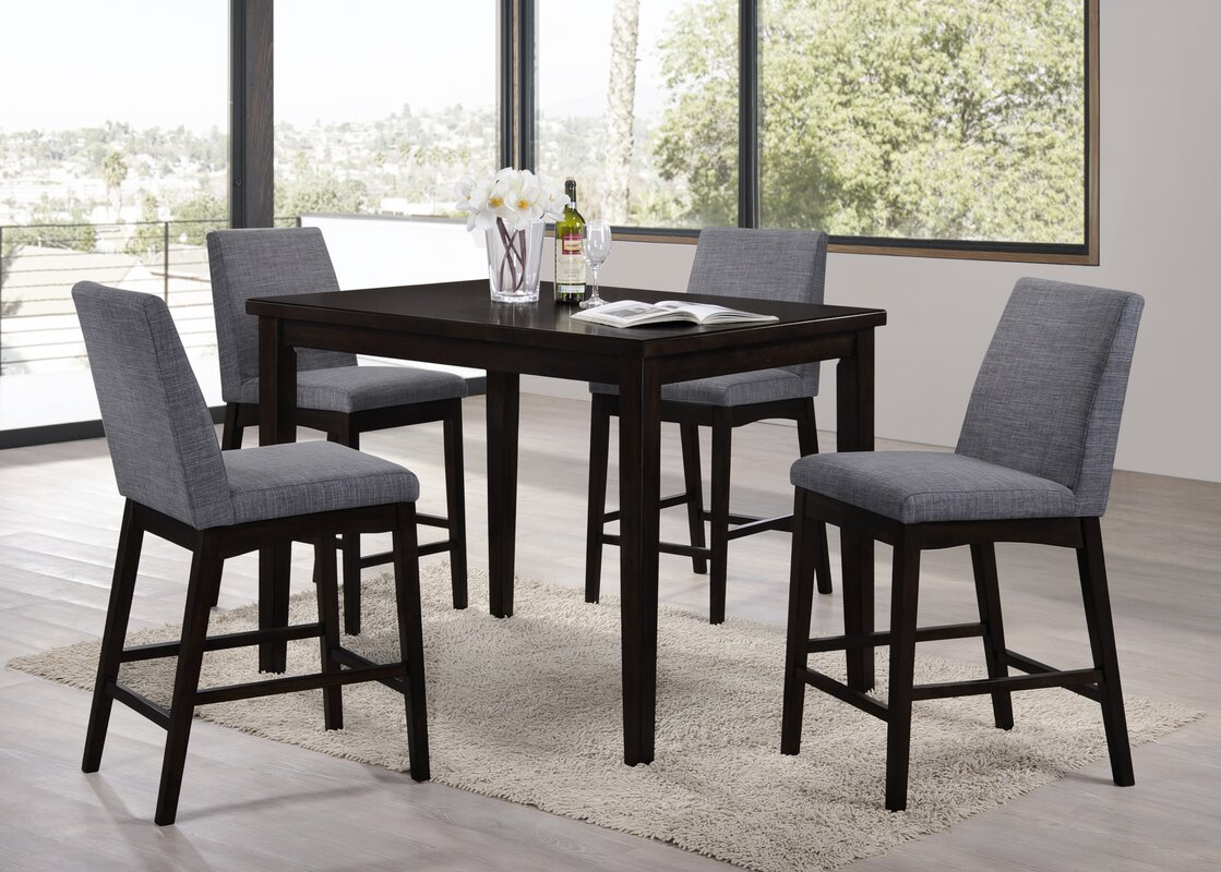 Latitude run trotwood 5 piece bar height dining set reviews wayfair trotwood 5 piece bar height dining set dzzzfo