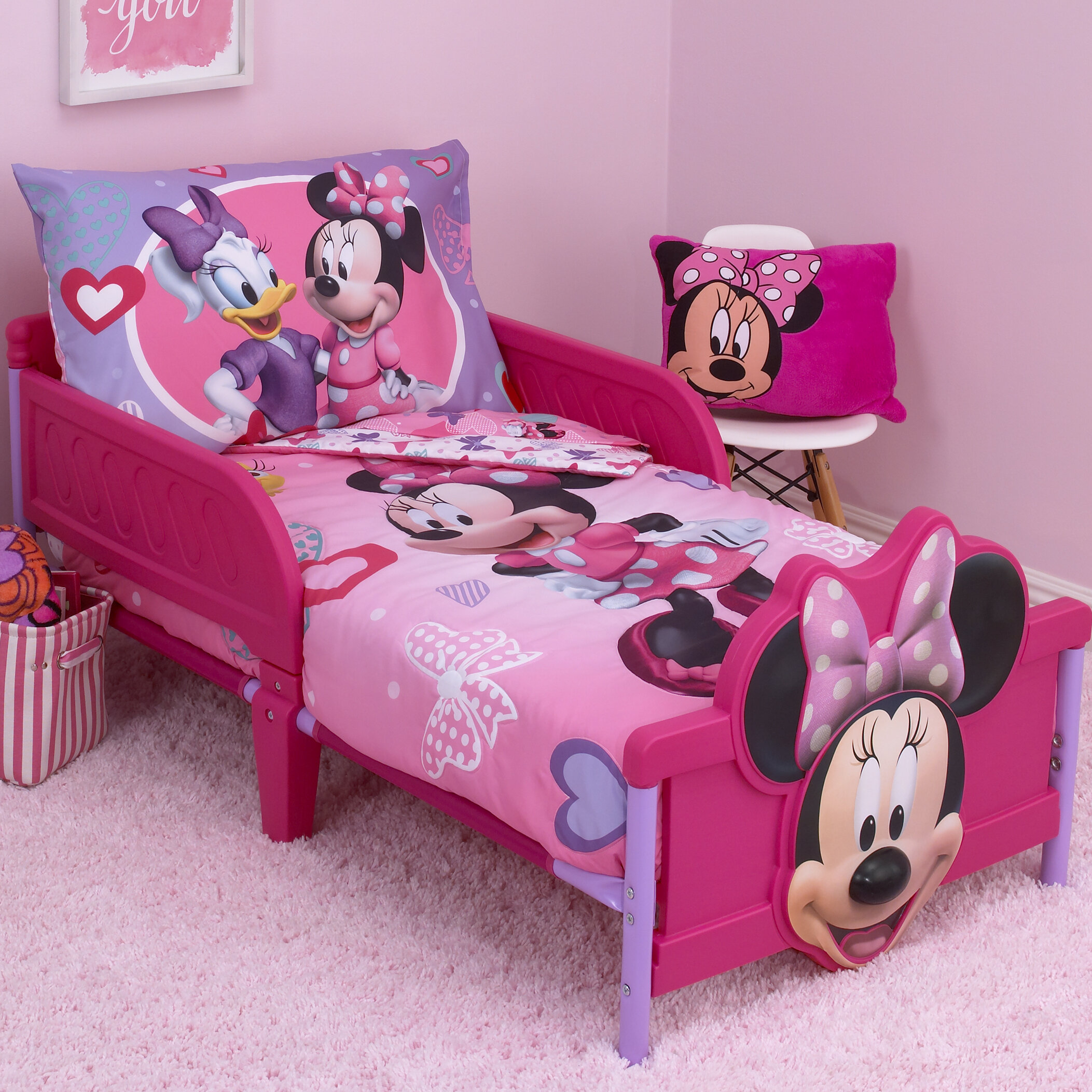 toddler bedding minnie mouse