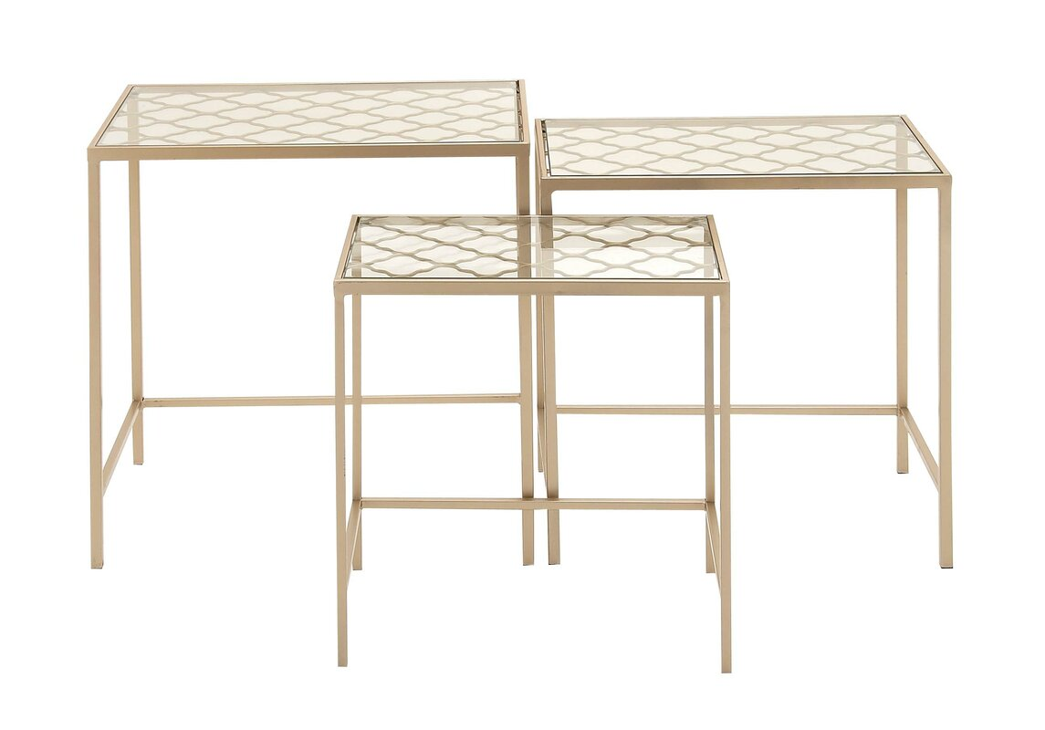 Attractive Roquefort 3 Piece Nesting Table Set