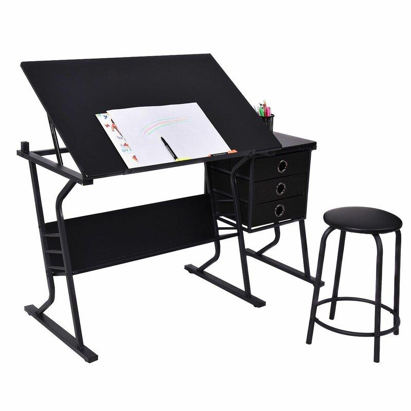 LaGuardia Adjustable Drafting Table And Chair Set