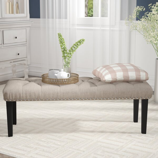 Charlton Home Seapine Upholstered Bench & Reviews