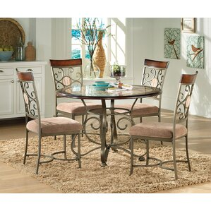 Nenuphar 5 Piece Dining Set by World Menagerie