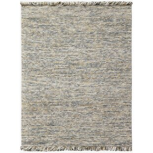 Louth Casual Handwoven Wool/Cotton White Area Rug ByHighland Dunes