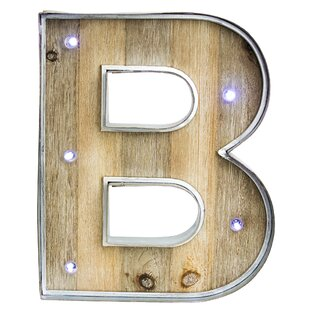 letter b woodmetal led marquee sign