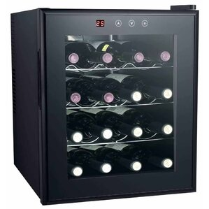 16 Bottle Single Zone Freestanding Wine Cooler by Sunpentown
