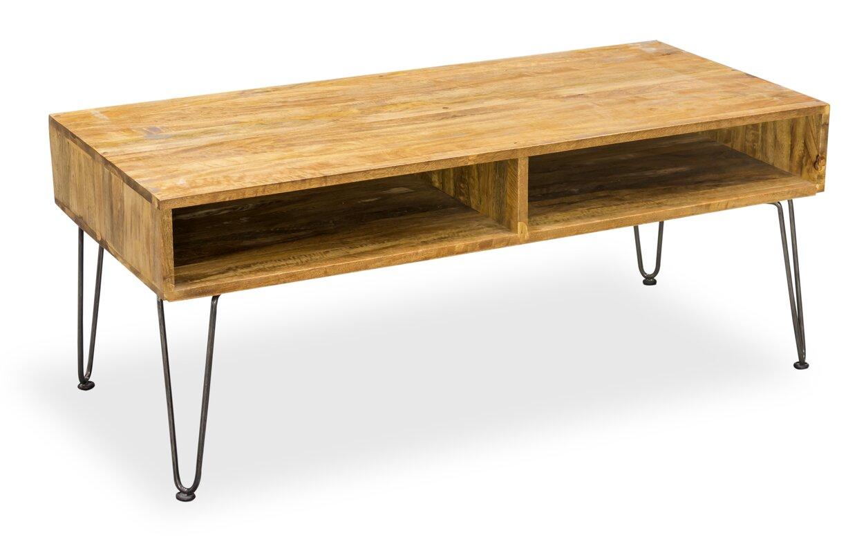 homestead living couchtisch hairpin mit stauraum. Black Bedroom Furniture Sets. Home Design Ideas