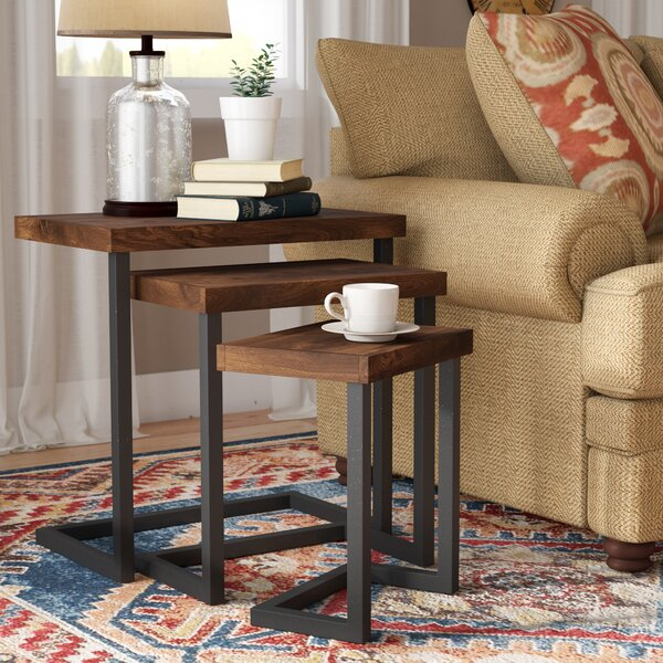 Trent Austin Design Crenata 3 Piece Nesting Tables