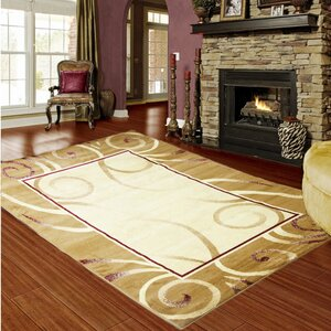 Majestic Gold/Burgundy Area Rug