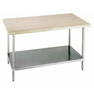 Prep Table With Wood Top #1