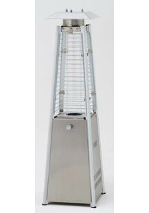 Chantico Stainless Steel Flame Table Top Patio Heater by Caracella