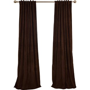 brown blackout curtains. Albert Solid Blackout Thermal Rod Pocket Single Curtain Panel Brown Curtains F