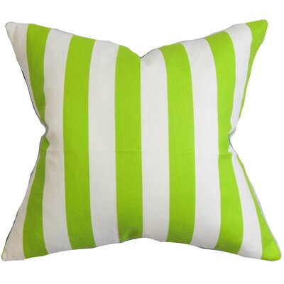 Birch Lane™ Heritage Knotts Indoor/Outdoor 100% Cotton Throw Pillow Color: Chartreuse / White, Size: 20 H x 20 W