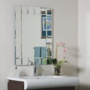 Frameless Mirrors For Bathrooms frameless mirrors you'll love | wayfair
