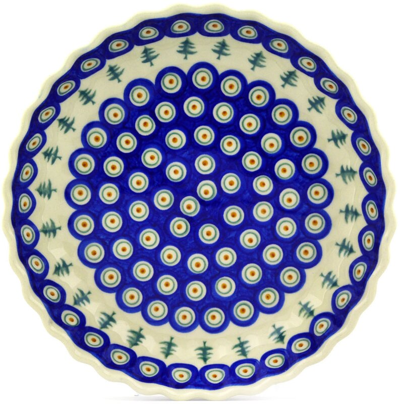 Polish Pottery Fluted Pie Dish  sc 1 st  Wayfair : fluted pie plate - pezcame.com
