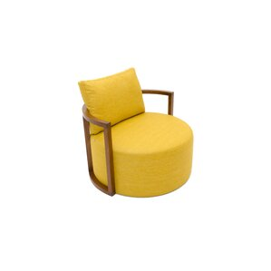 Kav Fabric Leather Lounge Chair by B&T Design
