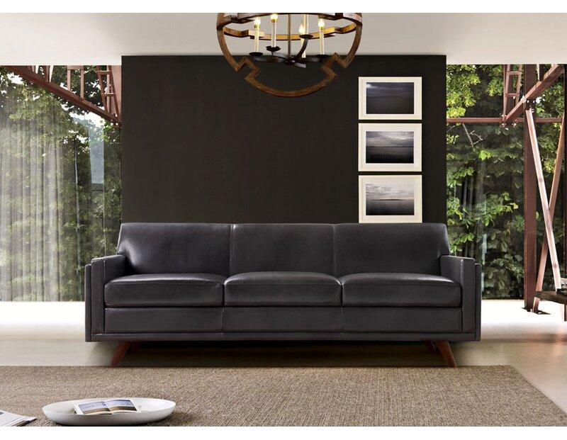 Ari Genuine Leather Modern Leather Sofa
