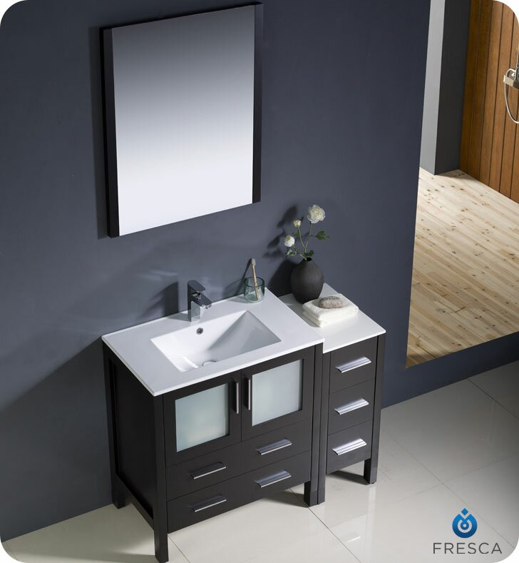 "Modern Bathroom Vanity Sink fresca torino 42"" single modern bathroom vanity set with mirror"