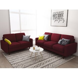 Modern & Contemporary Red Living Room Sets You\'ll Love | Wayfair