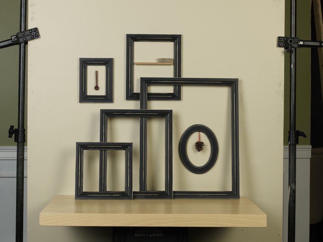 6 Piece Distressed Empty Frame