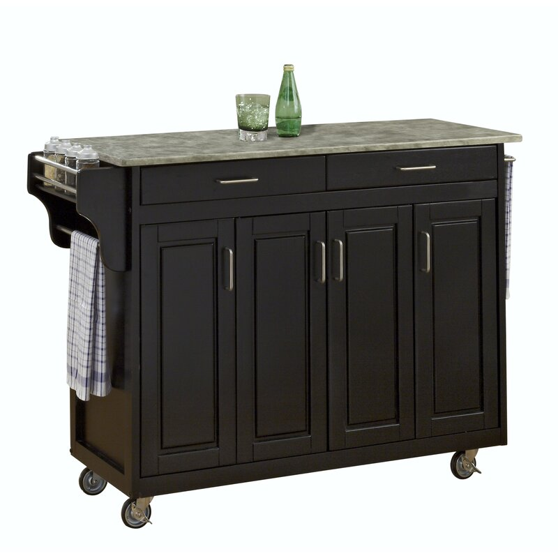Create A Cart Kitchen Island With Concrete Top