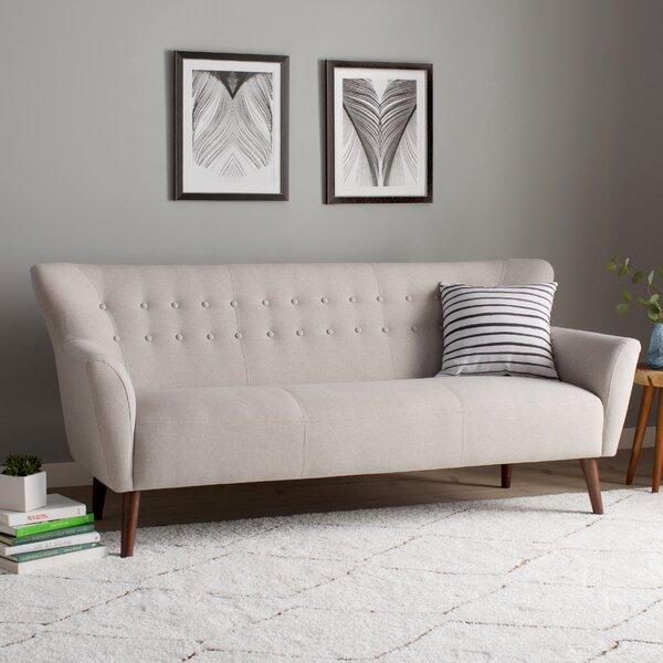 Gabrielle Living Room: Langley Street Gabrielle Mid-Century Modern Sofa & Reviews