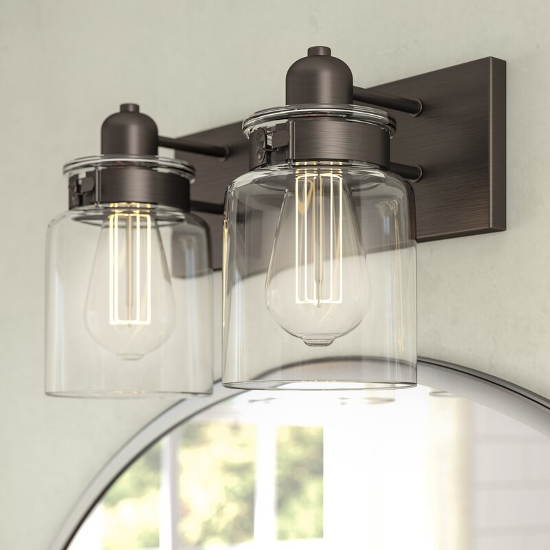 Laurel Foundry Modern Farmhouse Vasilia 2-Light Vanity Light ...