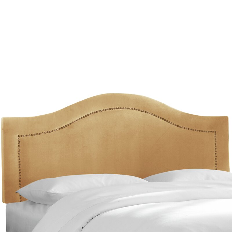 Alaraph Velvet Inset Nail Button Upholstered Panel Headboard ...