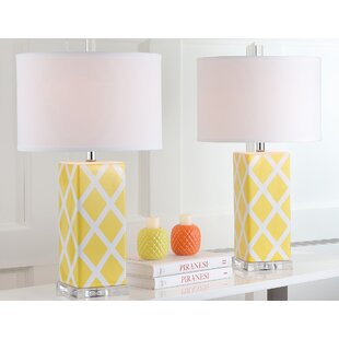 Yellow table lamps youll love wayfair yellow table lamps aloadofball Images