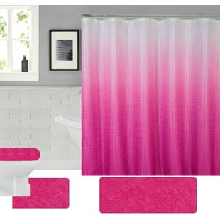 Pink Shower Curtain Set