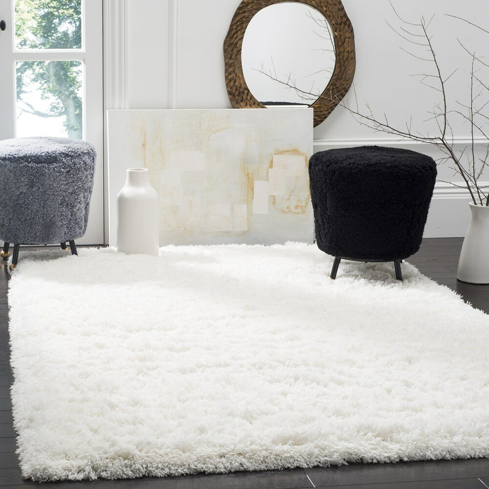 Willa Arlo Interiors Hermina White Area Rug & Reviews | Wayfair