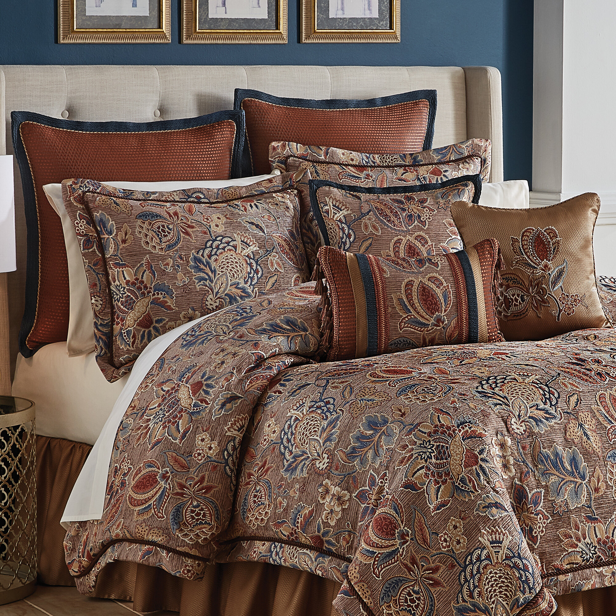 sets comforter by lodge king aspen plateau multi set croscill bedding