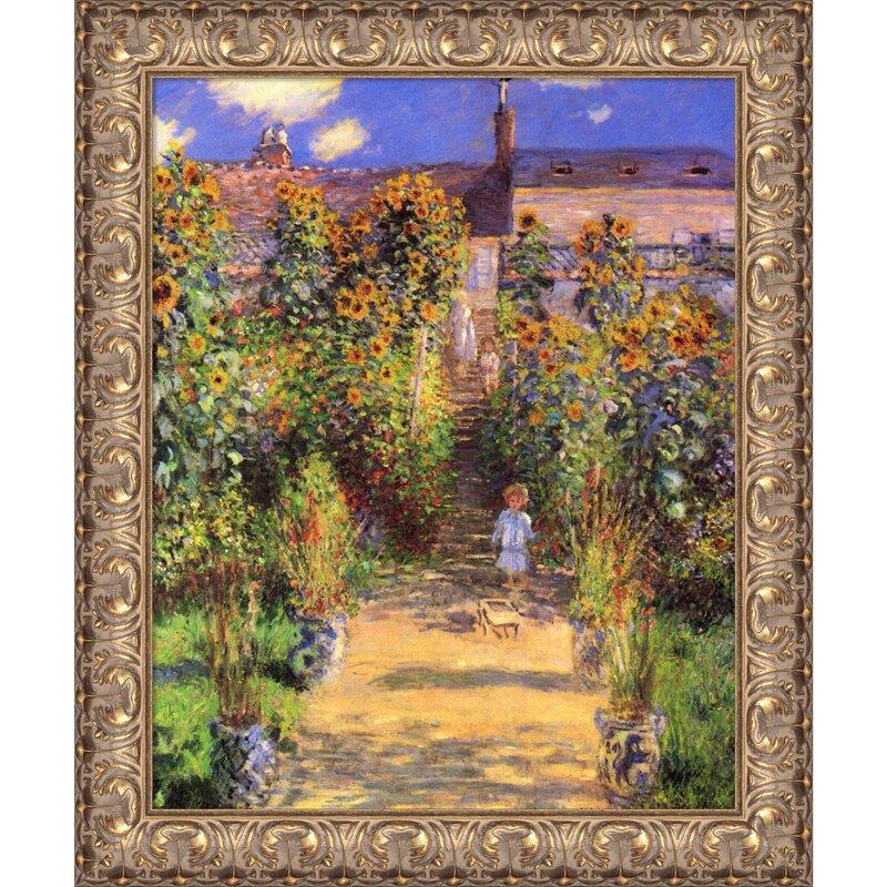 U0027The Artistu0027s Garden At Vetheuil, 1880u0027 By Claude Monet Framed Painting  Print