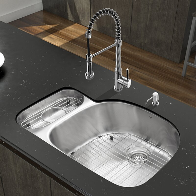 32 Inch Undermount 80 20 Double Bowl 18 Gauge Stainless Steel Kitchen Sink With Edison