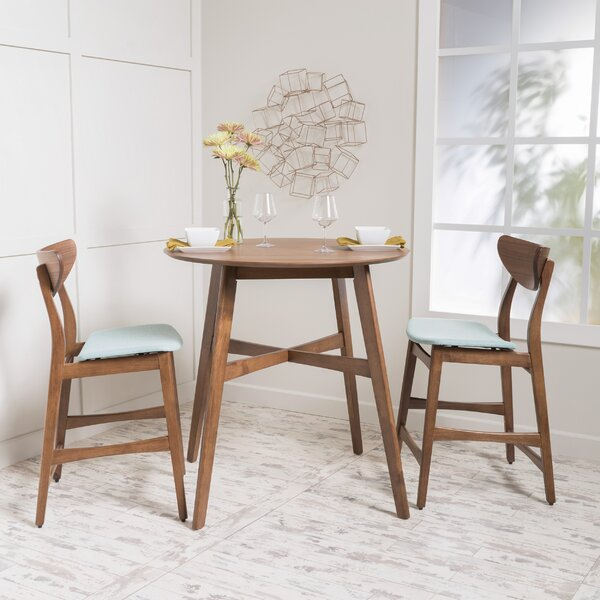 langley street santa cruz 3 piece counter height dining set u0026 reviews wayfair