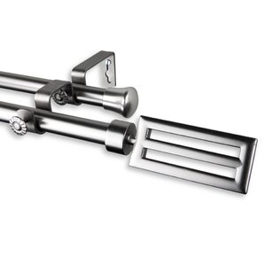 sterling double curtain rod and hardware set