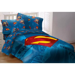 Superman Shield Full Size 5 Piece Bedroom Collection