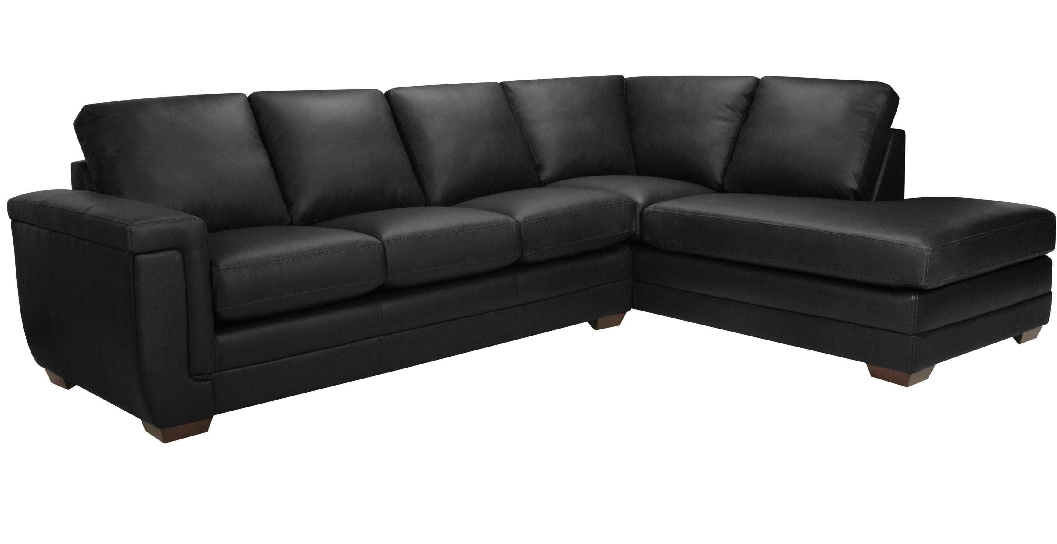 Latitude Run Gile Italian Leather Sectional | Wayfair