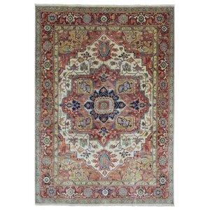 Marjorie Hand-Woven Rectangular Wool Red/Gray Area Rug