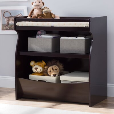 2-in-1 Changing Table And Storage Unit By Delta Color: Dark Chocolate